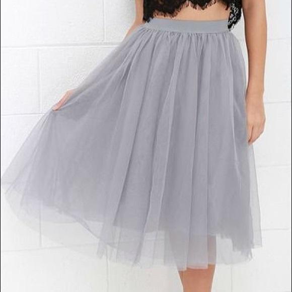 4adb04b892 Zara Grey Tulle Skirt. M_5b141066baebf697121b4634